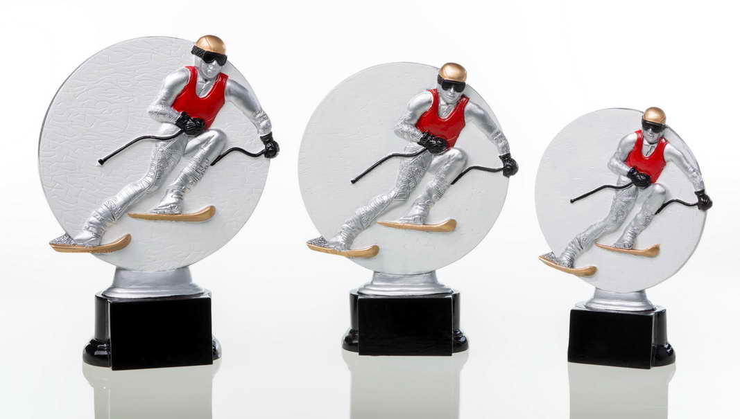 custom resin skiing sport trophy award souvenir gift