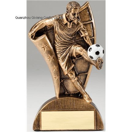 new design resin soccer souvenir sport award