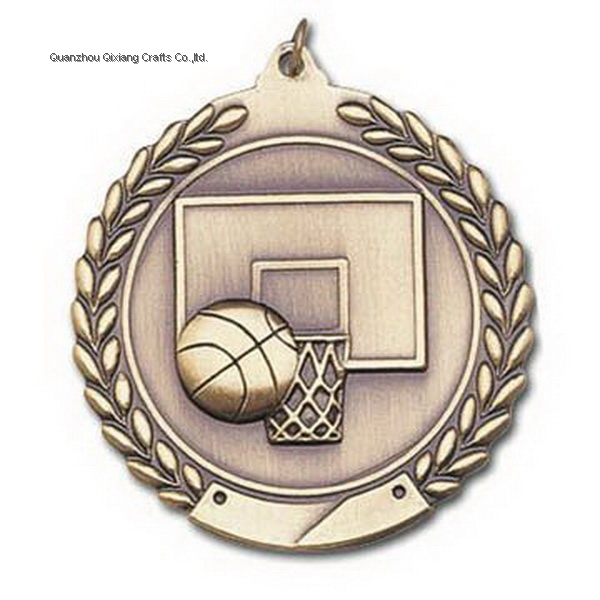 custom basketball sport metal medal