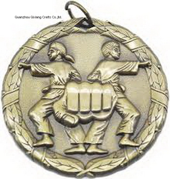 custom karate sport metal medal