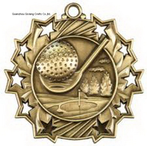 custom golf sport metal medal