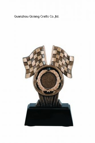 custom resin racing trophy award