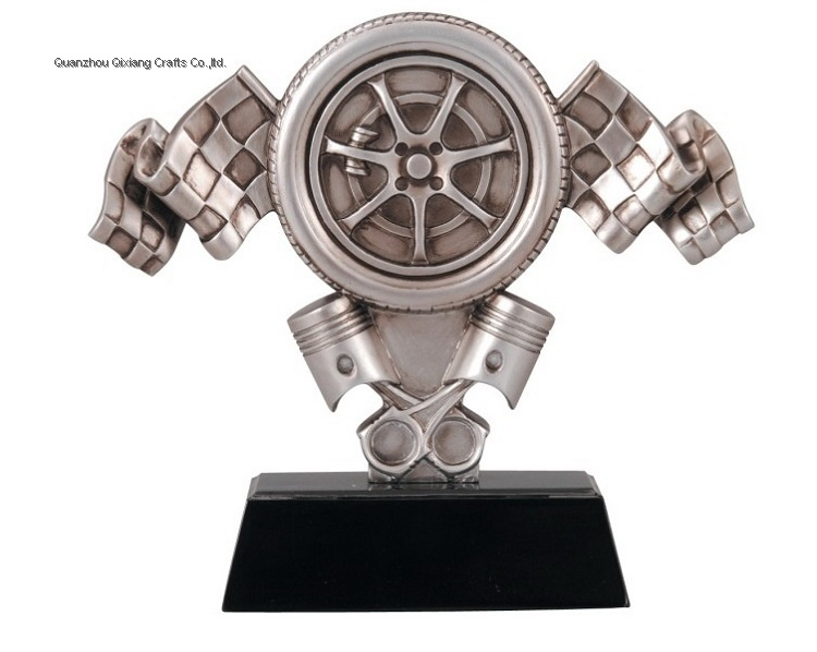 souvenir custom resin kart racing trophy award