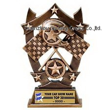 souvenir custom 3d resin kart racing trophy award