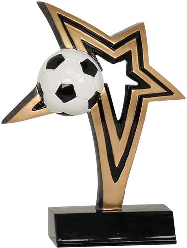 resin soccer trophy custom sport awards