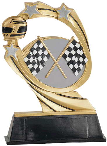 custom resin racing souvenir sport trophy