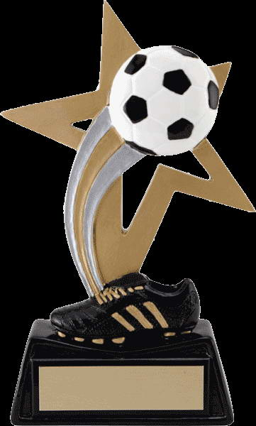 custom resin soccer trophy sport award
