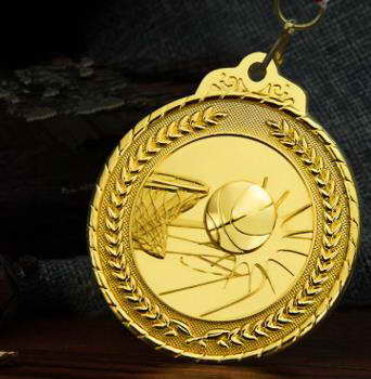 custom sport metal basketball medals