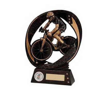 custom resin cycling sport trophy award