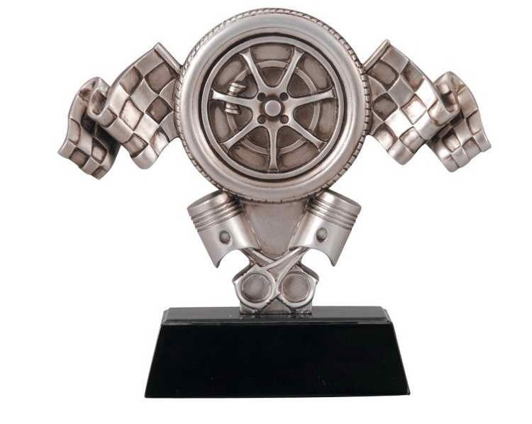 custom resin racing sport trophy award