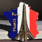 custom france polyresin fridge magnet